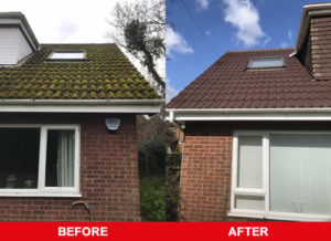 flat roof before & after images